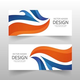 Orange et bleu bannière abstraite