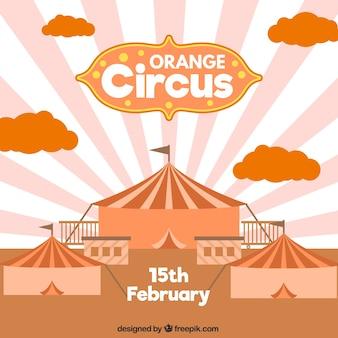 Orange cirque illustration