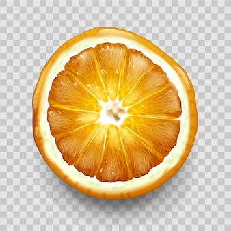 Orange ou citron coupé en demi-vue de dessus. agrumes