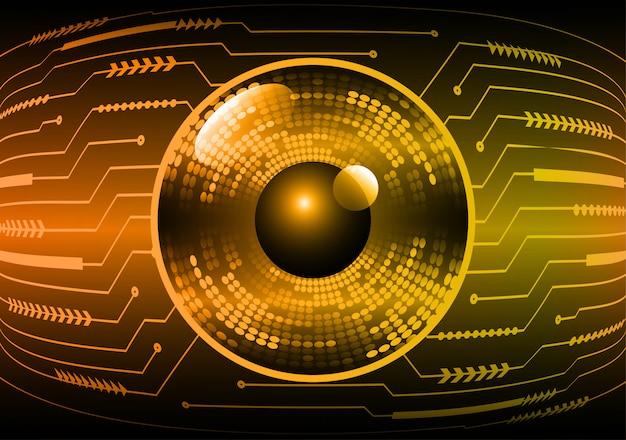 Orange eye cyber circuit futur technologie concept background