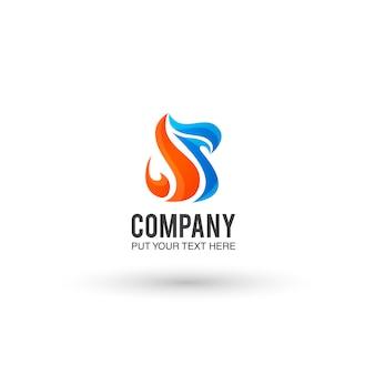 Orange et fond bleu logo