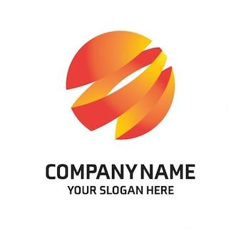 Orange globe signe logo