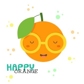 Orange. illustration vectorielle