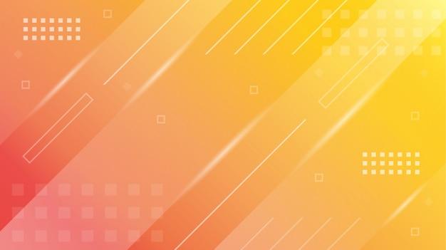 Orange jaune dégradé géométrique abstrait moderne