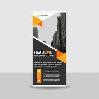 Orange Noir Créative Rouler Bannière Modèle Vecteur gratuit