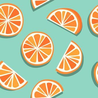 Orange sans couture, pamplemousse, mandarine ou clémentine sans couture, combinaison orange et bleue