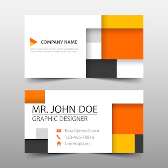 Orange square abstract banner template design