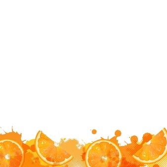 Orange avec tache orange