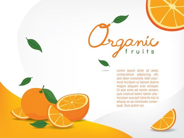 Oranges biologiques sur papier peint clair