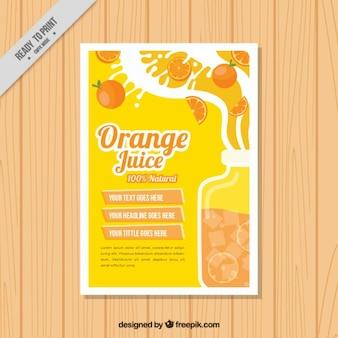 Oranje jus dépliant