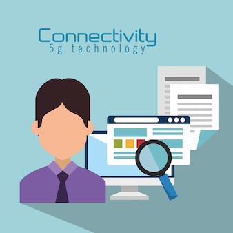 Ordinateur de bureau avec connectivité 5g tech