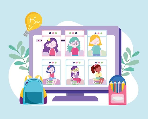 Ordinateur d'éducation en ligne