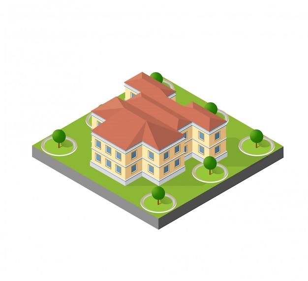 Ordinateur internet icône isométrique paysage 3d de