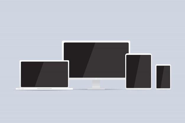 Ordinateur. moniteur lcd, ordinateur portable, tablette, téléphone mobile