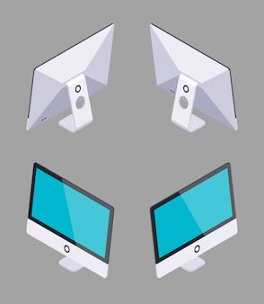 Ordinateur monobloc générique isométrique