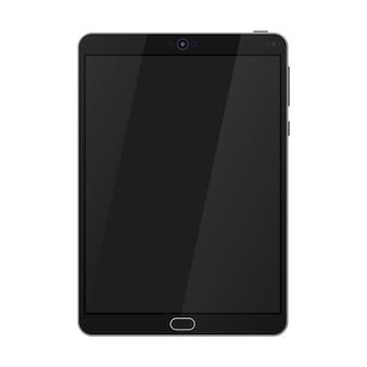 Ordinateur pc tablette réaliste avec écran blanc.