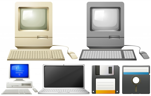 Ordinateur personnel avec moniteurs et claviers