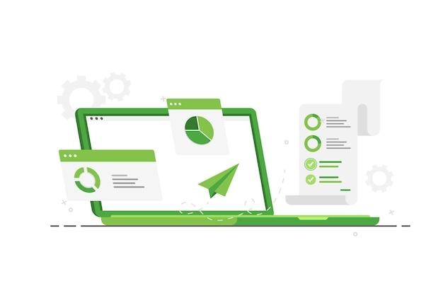 Ordinateur portable avec analyse de données pour le marketing