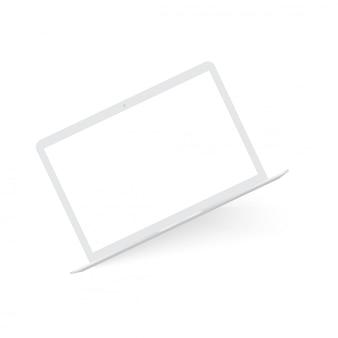 Ordinateur portable blanc réaliste maquette