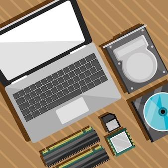 Ordinateur portable et disques