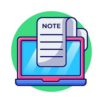 Ordinateur portable avec illustration plat billet et pièce
