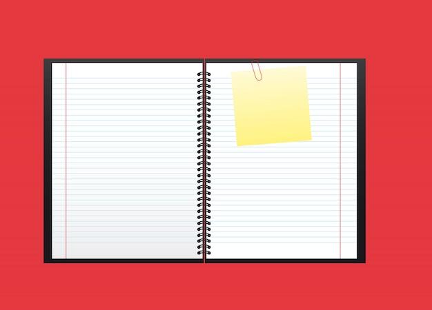 Ordinateur portable ouvert isolé sur rouge