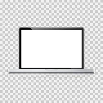 Ordinateur portable réaliste, ordinateur portable avec écran vide