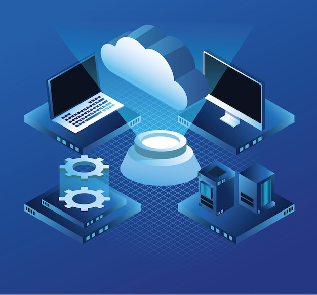 Ordinateur et serveurs de technologie virtuelle