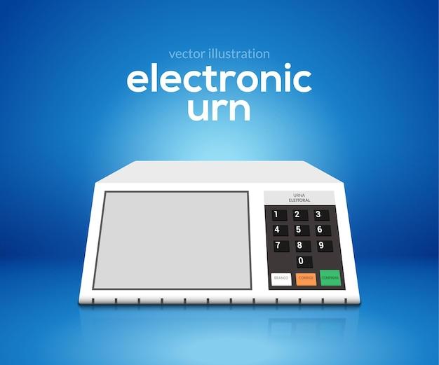 Ordinateur de vote par urne électronique vector choix du président du brésil