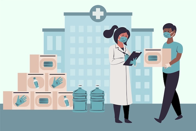 Ordre des coronavirus d'aide humanitaire