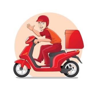 Ordre de livraison de cyclomoteur rouge