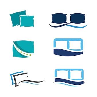 Oreiller vector icon design illustration modèle