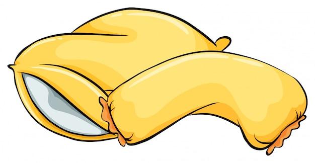 Oreillers jaunes