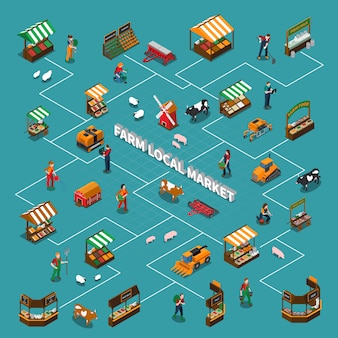 Organigramme du marché local