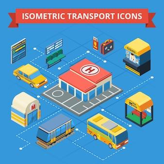 Organigramme isométrique du transport de passagers