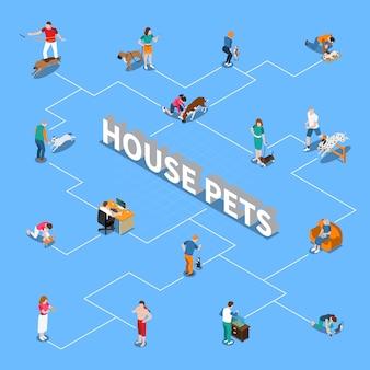 Organigramme des personnes avec des animaux domestiques