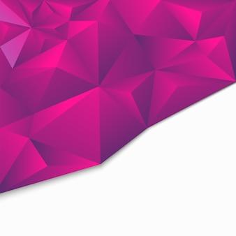 Origami géométrique abstrait polygonal, style 3d