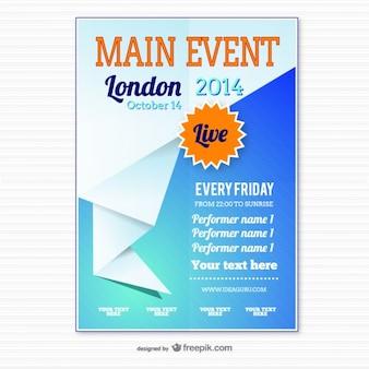 Origami modèle d'affiche de l'événement