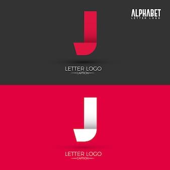 Origami style j lettre logo