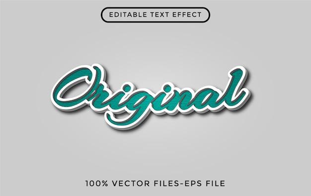 Original - effet de texte modifiable par l'illustrateur vecteur premium