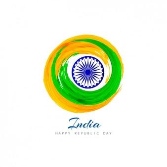 Origine indienne avec le cercle fait à l'aquarelle