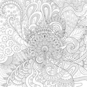 Ornamental hand drawn background