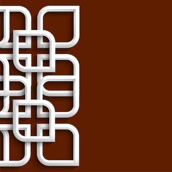 Ornement 3d en style arabe