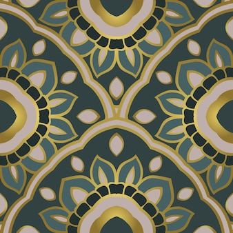 Ornement abstrait oriental. gabarit pour tapis, textile et toute surface. modèle vectorielle continue.