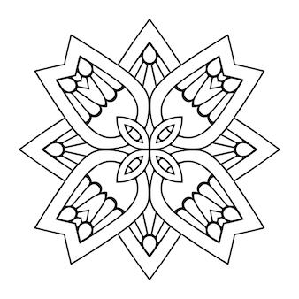 Ornement d'arabesque de vecteur