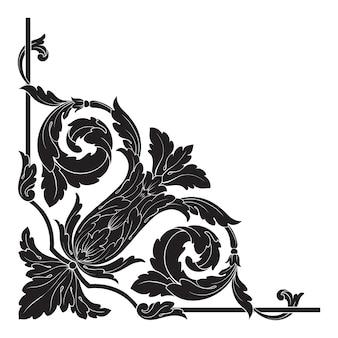 Ornement baroque classique. élément de design décoratif en filigrane.