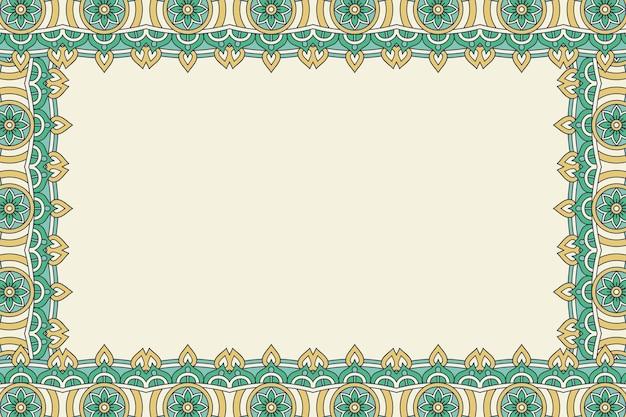 Ornement beau fond cadre floral géométrique