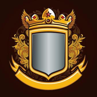 Ornement bouclier badge emblème logo