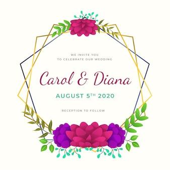 Ornement de cadre floral élégant pour le mariage