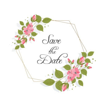 Ornement de cadre floral pour la conception de mariage